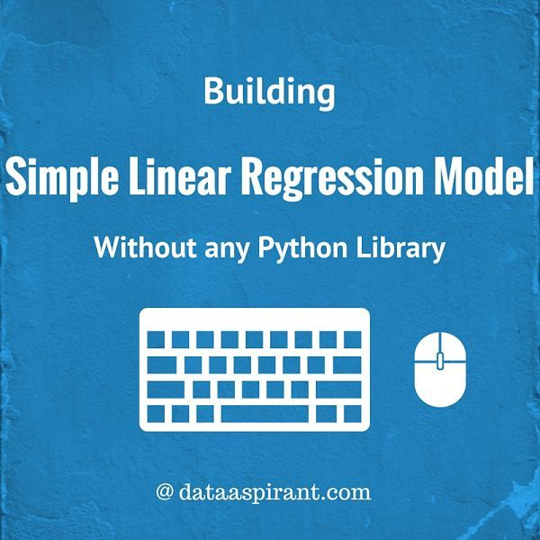 Implementing Simple Linear Regression without any Python Machine learining libraries