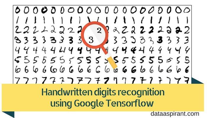 Handwritten digits recognition using google tensorflow with python